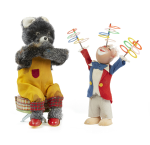 Juggling Clown with Rings, Large Sitting Bear