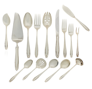 62 Piece Wallace Sterling Silver Flatware,