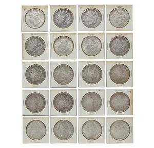 Twenty Morgan Silver Dollars