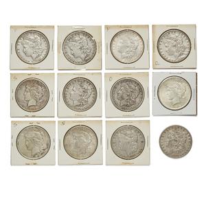 Twelve U.S. Silver Dollars