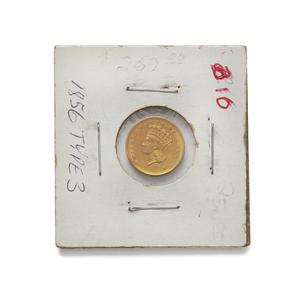 1856 One Dollar U.S. Gold Coin