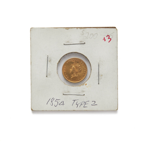 1854 One Dollar U.S. Gold Coin