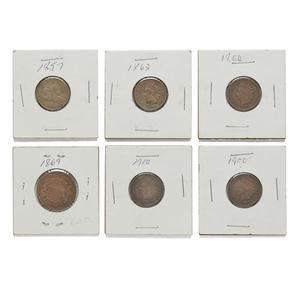 Six U.S. Pennies