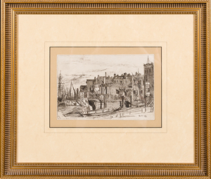 James McNeil Whistler Etching--WAPPING WHARF 1859