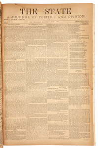 The State, A Journal of Politics and Opinion