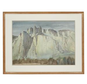 Paul Lauritz (1889-1975) Watercolor