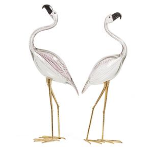 Licio Zanetti (20th c) Murano Glass Flamingo Sculptures