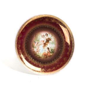 Painted Austrian Porcelain Plate