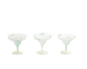 Stemware w/Enameled Decoration (10 p)