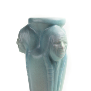Van Briggle Quot Indian Head Quot Vase Witherell S Auction House