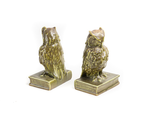 ROOKWOOD Owl Book Ends