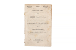 Fremont, John Charles. Geographical Memoir upon Upper California, in Illustration of His Map of Oregon and California