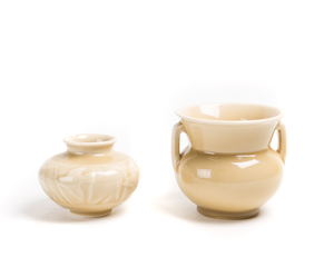 Two (2) ROOKWOOD Vases (Beige)
