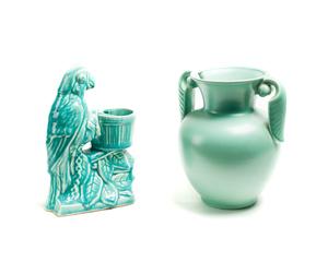 STANGL Vase/MCCoy Parrot Vase
