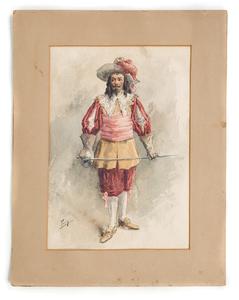 Figural Watercolor G.P. Roda