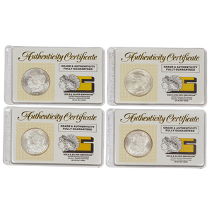 Four Graded Silver Dollars