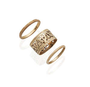 Three (3) 14k Yellow Gold Rings, 6.1 grams