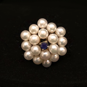 Pearl Sapphire 14k RIng