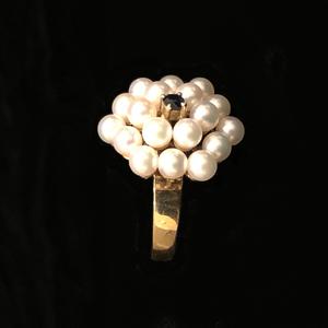 Pearl Sapphire 14k RIng