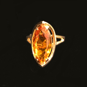 Citrine 14k Gold Ring
