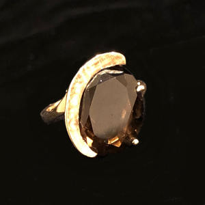 Smoky Quartz 14k Ring