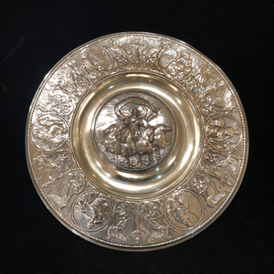 Elkington & Co Silver plate ink well