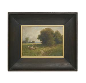 Sydney Janis Yard (1855-1909), Painting, Grazing Sheep