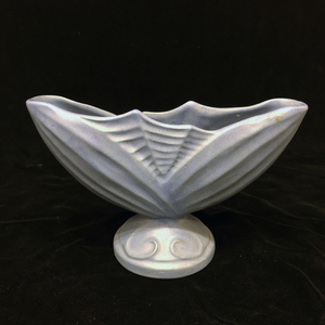 Matt Blue Bradmoir Fan Form Vase
