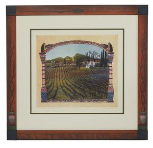 Gail Packer (1945-2008), Color Aquatint Etching,