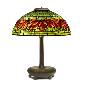 Tiffany Studios Poinsettia Table Lamp