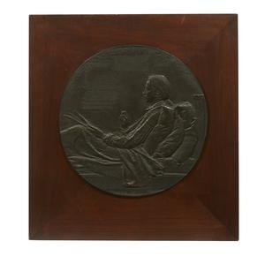 Augustus Saint-Gaudens (1848-1907) Bronze Portrait, Robert Louis Stevenson