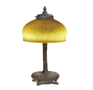Tiffany Studios Style Favrile Glass Table Lamp