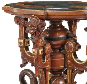 American Victorian Crane Form Pedestal, attributed to Herter Brothers