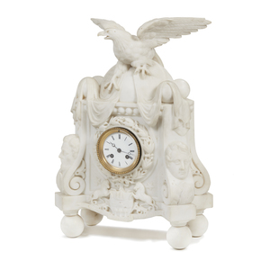 Patriotic Marble Clock
