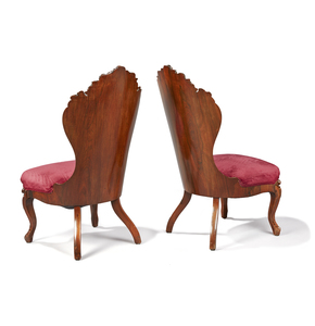 Pair Of Laminated Rosewood Side chairs Attrib. to J.H. Belter in the