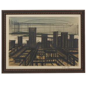 Bernard Buffet (1928-1999) Lithograph, Album San Francisco: Skyline