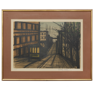 Bernard Buffet (1928-1999), Lithograph, Album San Francisco: Cable Car