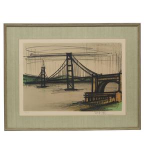 Bernard Buffet (1928-1999), Lithograph, Album San Francisco: Golden Gate Bridge