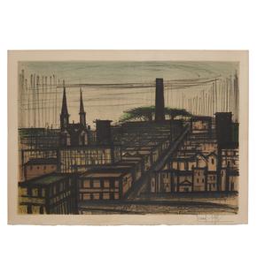 Bernard  Buffet (1928-1999)  Lithograph, Album San Francisco, View of San Francisco
