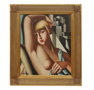 Female Portrait Painting, In The Manner Of Tamara de Lempicka (1898-1980)
