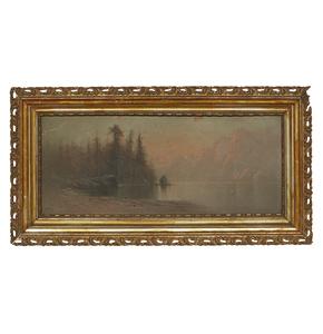 Thomas Oxley Miller (1854-1909), Lake Painting