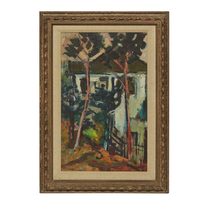 Robert Frame (1924-1999), Painting, Trees and House