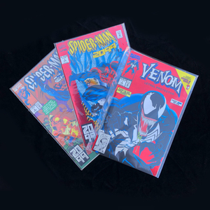 One Venom and Two Spiderman comics
