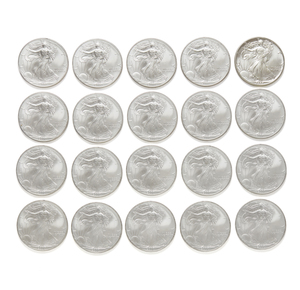 20-U.S. Liberty Silver Dollar 2000 Coins