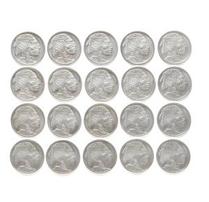 20 Buffalo 1oz .999 Silver Round Coins