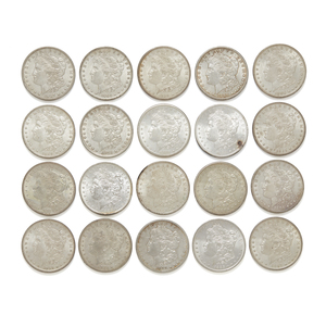20 Mix Date Morgan Silver Dollars