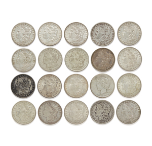 20 Mixed Date Silver Dollars
