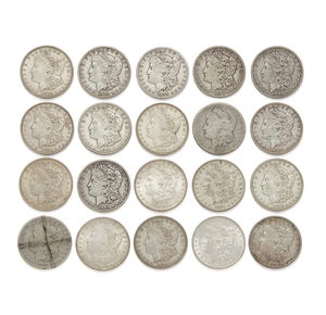 20 Mixed Date Morgan Silver Dollars