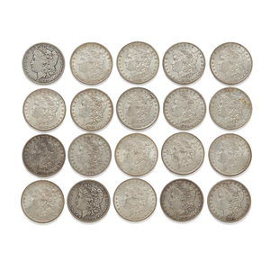 21 Mixed Date Morgan Silver Dollars