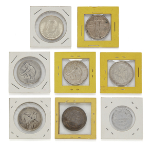 Eight Assorted Commemorative Coins and Tokens